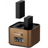 Hähnel ProCube2 - Professionell dubbelladdare för Olympus DSLR-batterier