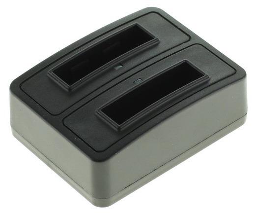 Dubbelladdare f¶r 2 batterier Pentax D-Li92