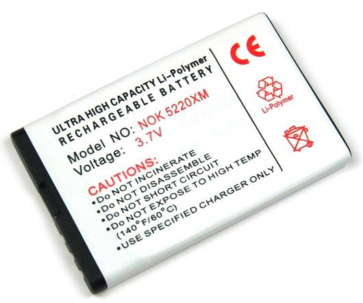 Batteri till Nokia 6303 classic och 5220 (BL-5CT)